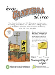 Keep Canberra Ad Free poster