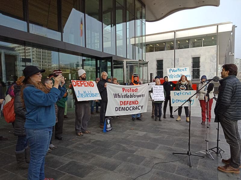 Defending Whistleblowers, Defending Democracy: Canberra Protest Speech