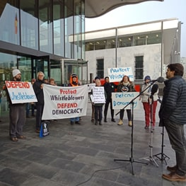 Defending Whistleblowers, Defending Democracy: Canberra Protest Speech by Tim Hollo