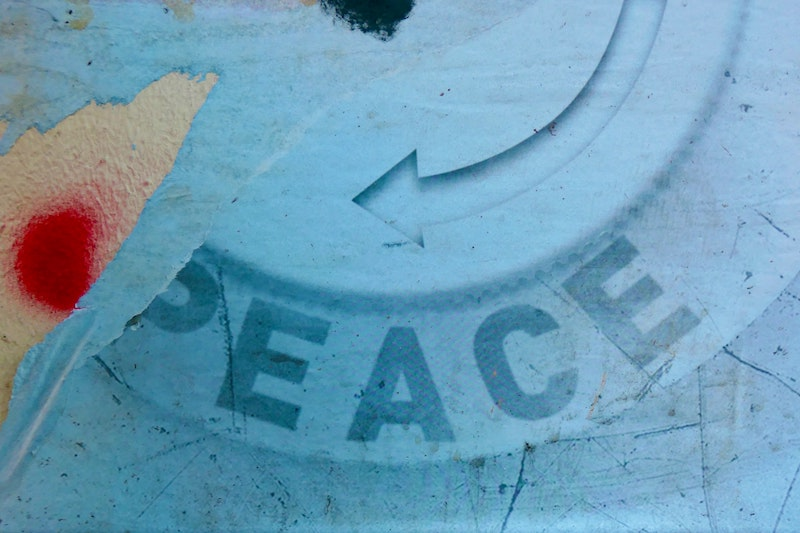 Peace - you wouldn't read about it (elsewhere) - International Day Of Peace - World Peace Day